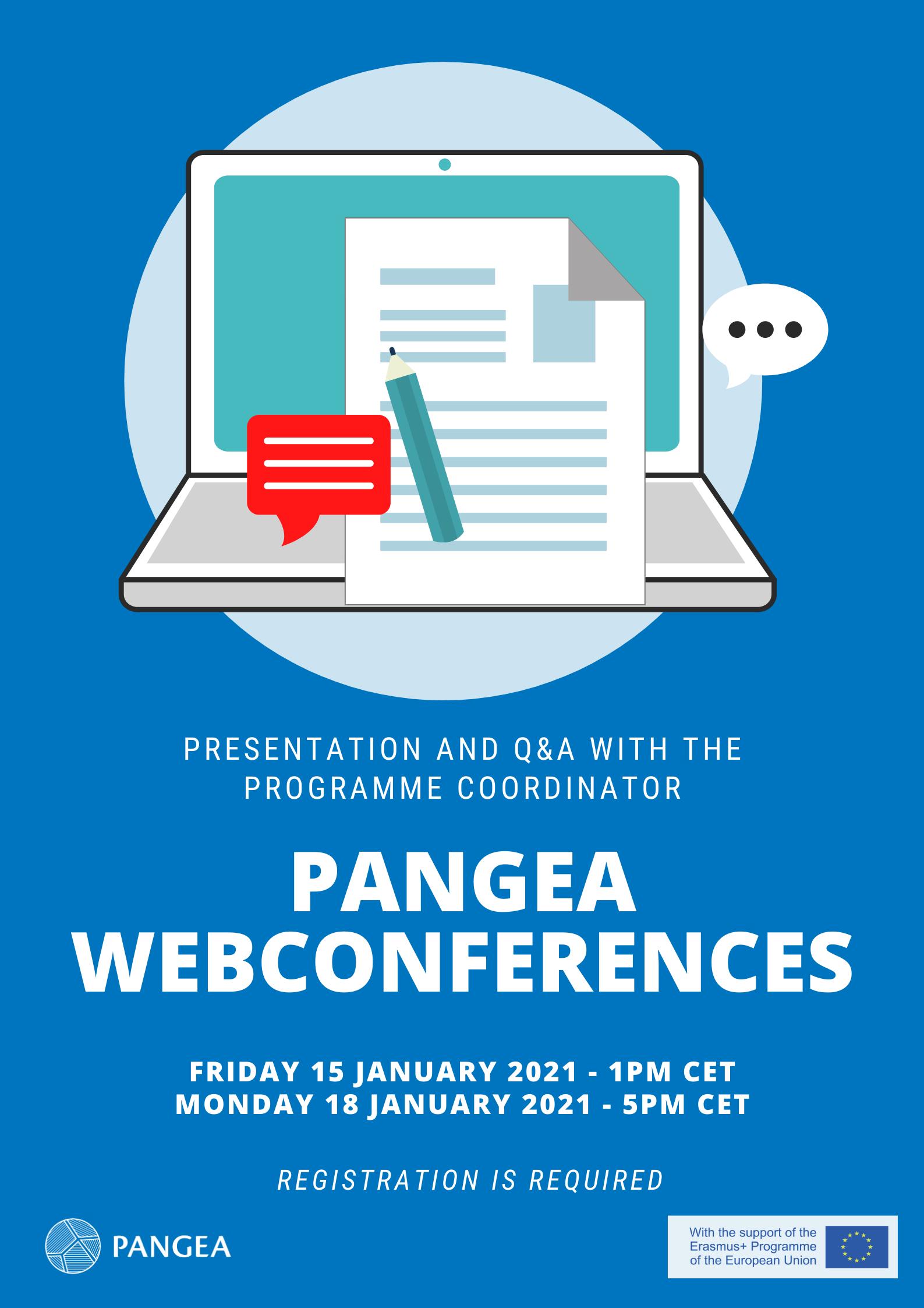 PANGEA Webconferences!